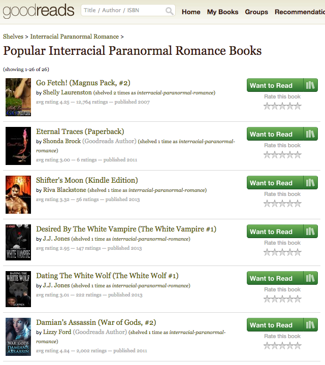 Goodreads Popular Interracial Romance