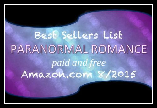 Amazon Bestsellers Paranormal Romance August September 2015
