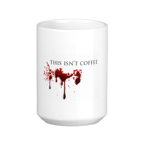 Not a morning person? Co-workers will be sure to steer clear of you if you carry this mug.