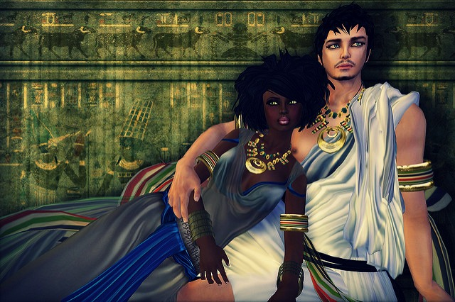 Cleopatra and Mark Anthony BWWM romance